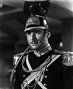 "Errol Flynn in ""Charge of the Light Brigade."""