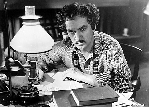 "FREDRIC MARCH in the title role of Rapper's favorite among his movies, ""The Adventures of Mark Twain."""