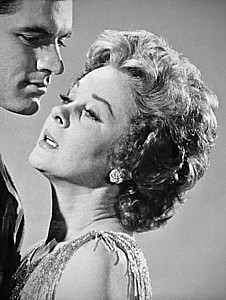 """SUSAN HAYWARD (above right) snak her teeth into the melodrama of """"Back Street,"""" with co-star John Gavin."""