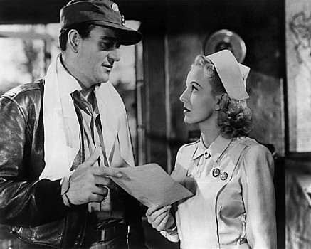 """JOHN WAYNE with ANNA LEE in""""Flying Tigers""""(1942)"""