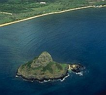 Aerial View of Chinaman's Hat - Mokoli`i Island