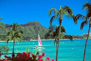 Diamond Head From Waikiki Beach