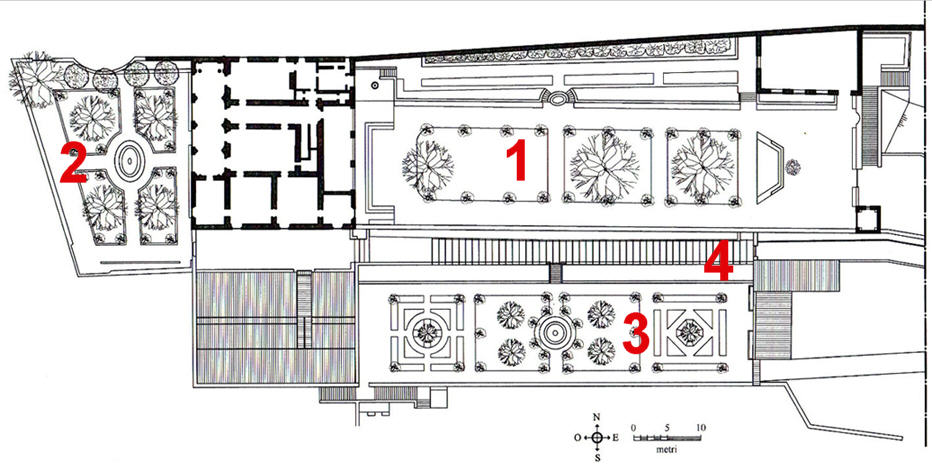 Plan De La Villa Medicis Rome