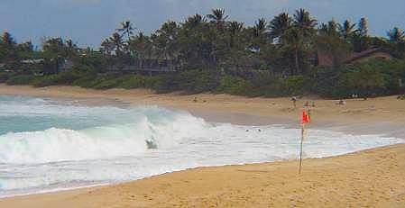 North Shore Dangerous Shore Break. Photo by Claudia Ferrari