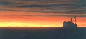 Sunrise at the Teague Headquarters