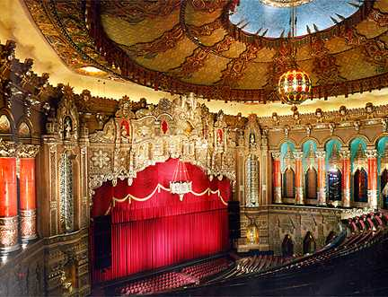 The ornate auditorium has been painstakingly restored to its original glory.