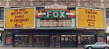 The Fox as it looked in 1987, just as renovation was about to begin.