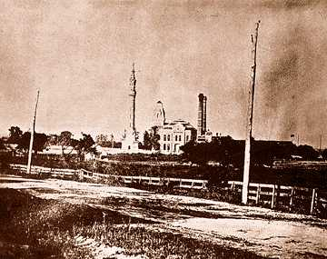 The brand new pumping station in 1880, its first year of operation.