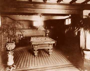 The mansion's billiard room featured Pewabic tile.
