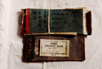 Rent receipt books from the 1920s for other properties owned by J.J. Lowe in Tingha.