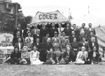 The cast of the 'Coles Variety Travelling Tent Show'