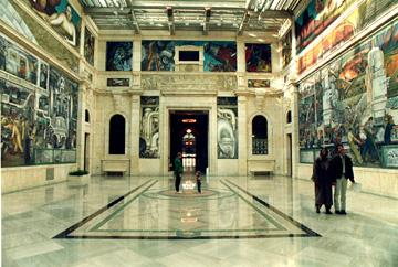 The Rivera murals at the Detroit Institute of Arts.