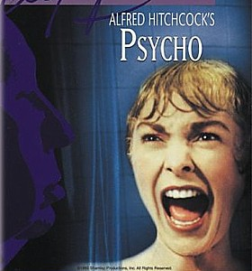 Janet Leigh screams as Bernard Herrmann's violins shriek in Alfred Hitchcock's Psycho.