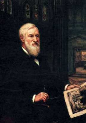 This portrait of James E. Scripps by Robert J. Wickenden was donated to the museum by the Scripps family after his death.