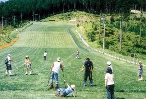 grass ski area