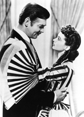 Clark Gable & Vivien Leigh in 'Gone With the Wind.'