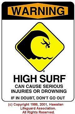 HIGH SURF - © 1986, 2001 Hawaiian Lifeguard Association. All Rights Reserved.