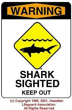 SHARK SIGHTED - © 1986, 2001, Hawaiian Lifeguard Association. All Rights Reserved.