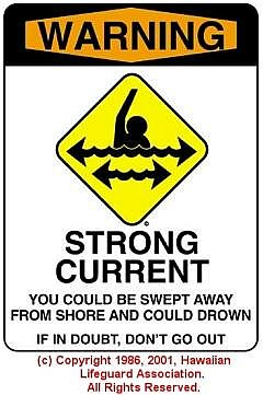 STRONG CURRENT - © 1986, 2001, Hawaiian Lifeguard Association. All Rights Reserved.