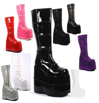 Goth High level platform boots from Dark Kitten
