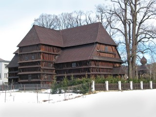Evangelical ´Articled ´Wooden Church at Hronsek (Monuments Board of the SR Archives, photo by Peter Fratr