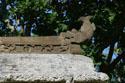 Beautiful decoration on stone gate